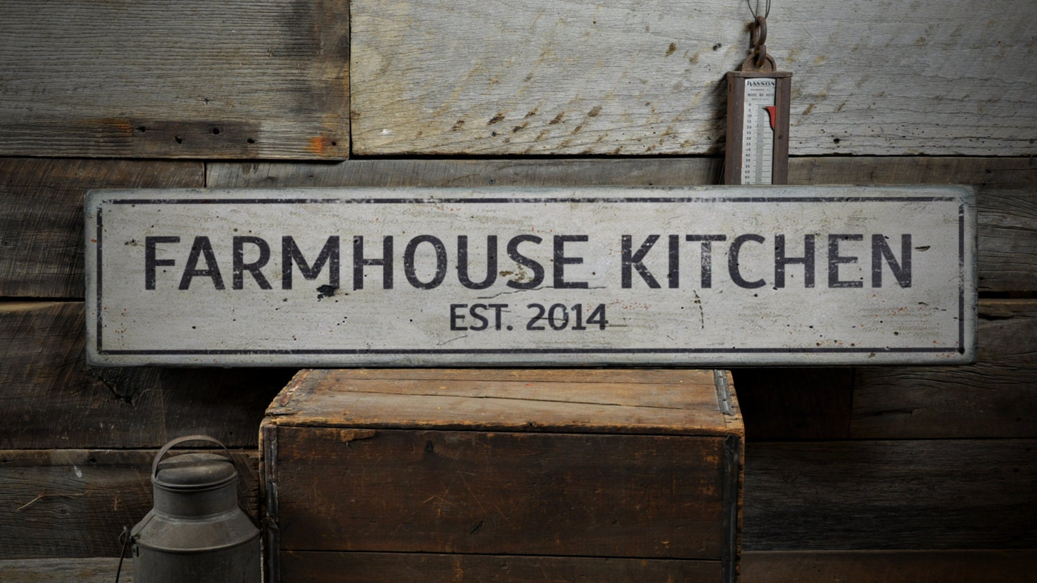 farmhouse kitchen wood sign personalized since established