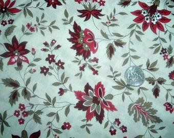 Quilt Fabric Destash Red on Cream Moda by the Half Yard