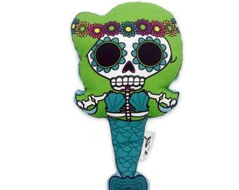 Green Muertos Mermaid Plushie