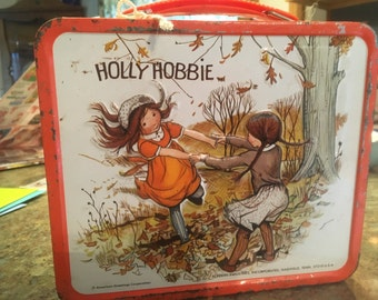 Vintage Metal 1980s Holly Hobbie Lunch Box