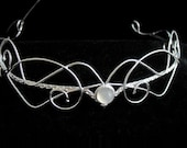 Bespoke Wedding Circlet, Art Nouveau Bridal Circlet, Waldorf Wedding Circlet, Diadem, Tiara, Handmade in Sterling Silver with Gemstone