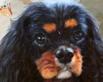 Cavalier King Charles Spaniel  Pet Portraits - King Charles Portraits from your Photos - Portraits by NC