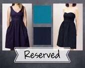 Reserved Listing- Custom Bridesmaid Dresses - V-Neck or Strapless, with Pockets - Linen Blend