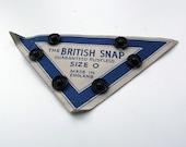 Vintage Black Rustless Metal Snap Fasteners - Craft Supplies