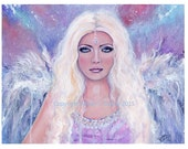 The watcher  angel  print by Renee L. Lavoie