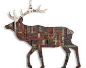 In the Woods Elk Metal Wall Sculpture