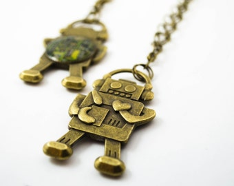 Circuit Board Necklace Robot Necklace Geeky Necklace Brass