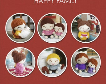 Happy Family Amigurumi Patterns - 6 Patterns