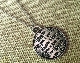 I Love You Necklace / Silver I Love You Pendant / Thin Silver Cable Chain / Layering Necklace / Girlfriends Gifts / Gifts for Her