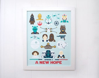 Star Wars A New Hope Screen Print