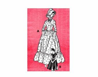 1970s Pilgrim Dress and Bonnet Costume Mail Order 4641 Vintage Sewing Pattern Size 12 Bust 34