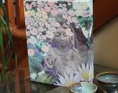 Goddess Art Canvas - 8x10 Kwan Yin Buddhist Goddess - Reflections Art Print by Christopher Beikmann - New Age Art
