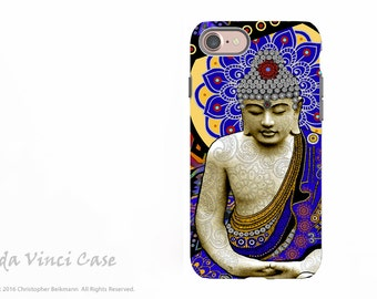 Colorful Buddha iPhone 7 / iPhone 8 Tough Case - Zen Dual Layer Protective Apple iPhone Cover - Buddhist Art Rhythm of My Mind