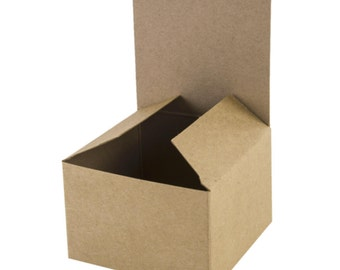 75 Boxes | 3x3x2 Inch Brown Eco-Kraft Boxes