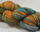 SALE 30% OFF Hand Dyed Merino Superwash Worsted Weight Fish Bwol Multi Color Tor Worsted By Yarn Hollow 420 yards 8 ounces Huge Skein!