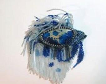 Custom made Betta Fish Pendant or Brooch