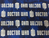 Doctor Who fabric, hard to find 1 yard