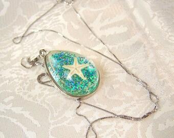 Starfish in the Sea Pendant Necklace