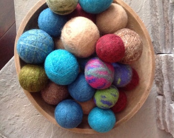 Wool Felted Dryer Balls