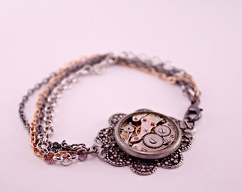Industrial Steampunk Watch Part 7 Inch Bracelet