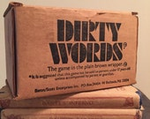 Vintage dirty words game from the 70s
