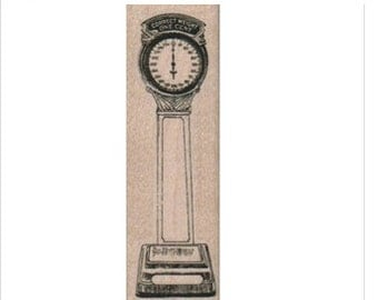 Rubber stamp vintage doctor's scale correct weight   scrapbooking supplies 629