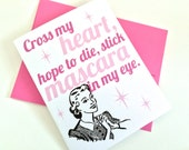 Mascara Greeting Card.
