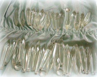 34 shabby vintage chandelier crystals glass chandelier spears