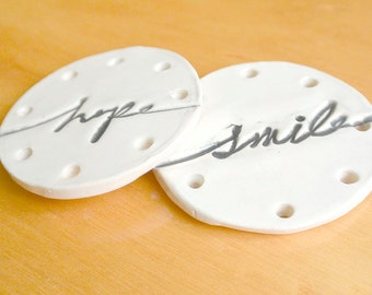 HOPE and SMILE basket bottoms