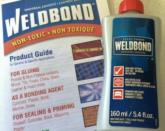 5.4 oz - Weldbond Adhesive - Glues / Seals Bails, Mosaic Tile - Clear Drying Bonding Agent