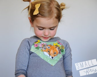 fox print baby sweatshirt bamboo fleece Supayana
