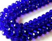 Cobalt Blue Crystal Beads 10x12mm (72)