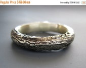 VALENTINE SALE Ready to ship, Men's Willow twig ring, sterling silver
