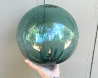 Large Vintage Glass Fishing Float, 30 1/2 Circumference