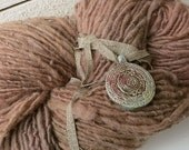 Handspun Wool Yarn - Clun Forest Wool Yarn - Hand Dyed Yarn - Brown Yarn - Rustic Single Ply Yarn