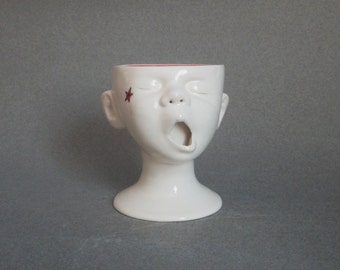 Baby Head Cup w/star tattoo, Ready to ship