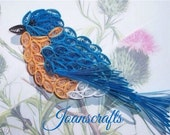 Bluebird Ornament in Quilling