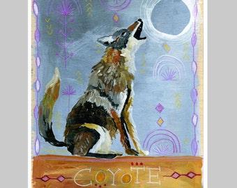 Animal Totem Print - Coyote