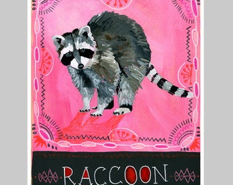 Animal Totem Print - Raccoon