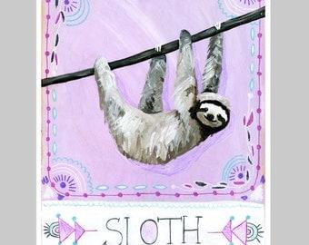 Animal Totem Print - Sloth