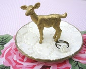 Deer Fawn Jewelry Ring Dish Holder