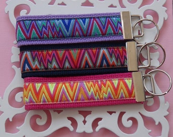 Ikat Chevron Key Fob-Your Choice