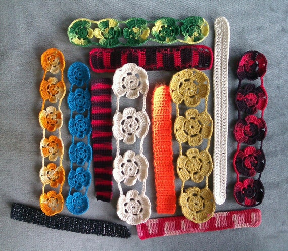 Crocheted Flowers Bookmarks - several colours available