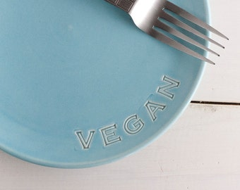 Vegan Dish - Lunch plate - Small dessert plate - Aqua
