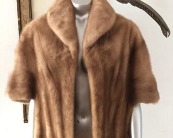 Beautiful Blonde Mink Fur Capelet Stole Wrap