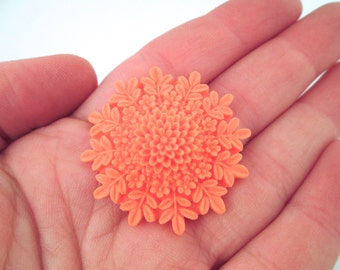 35mm Orange Flower Cabochons, pick your amount