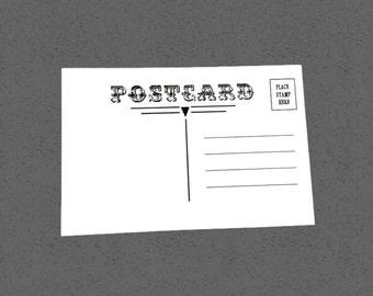 Postcard blanks - set of 25 - 4x6 soft white