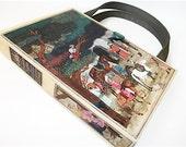 Vintage Arabian Nights Book Purse, Upcycled Womans Fashion, Recycled Handmade Handbag 1946
