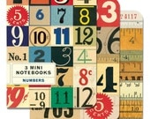 Mini Notebooks Numbers 3 Mini Notebooks