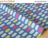 Japanese Fabric - jellybean tiles canvas - E - 50cm